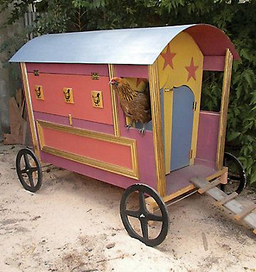 gypsy hen caravan chicken coop diy plans. leaves details to be