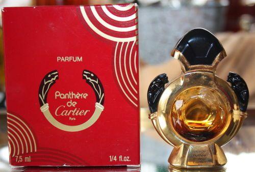 Ancien Flacon Extrait De Parfum Panthere De Cartier Miniature
