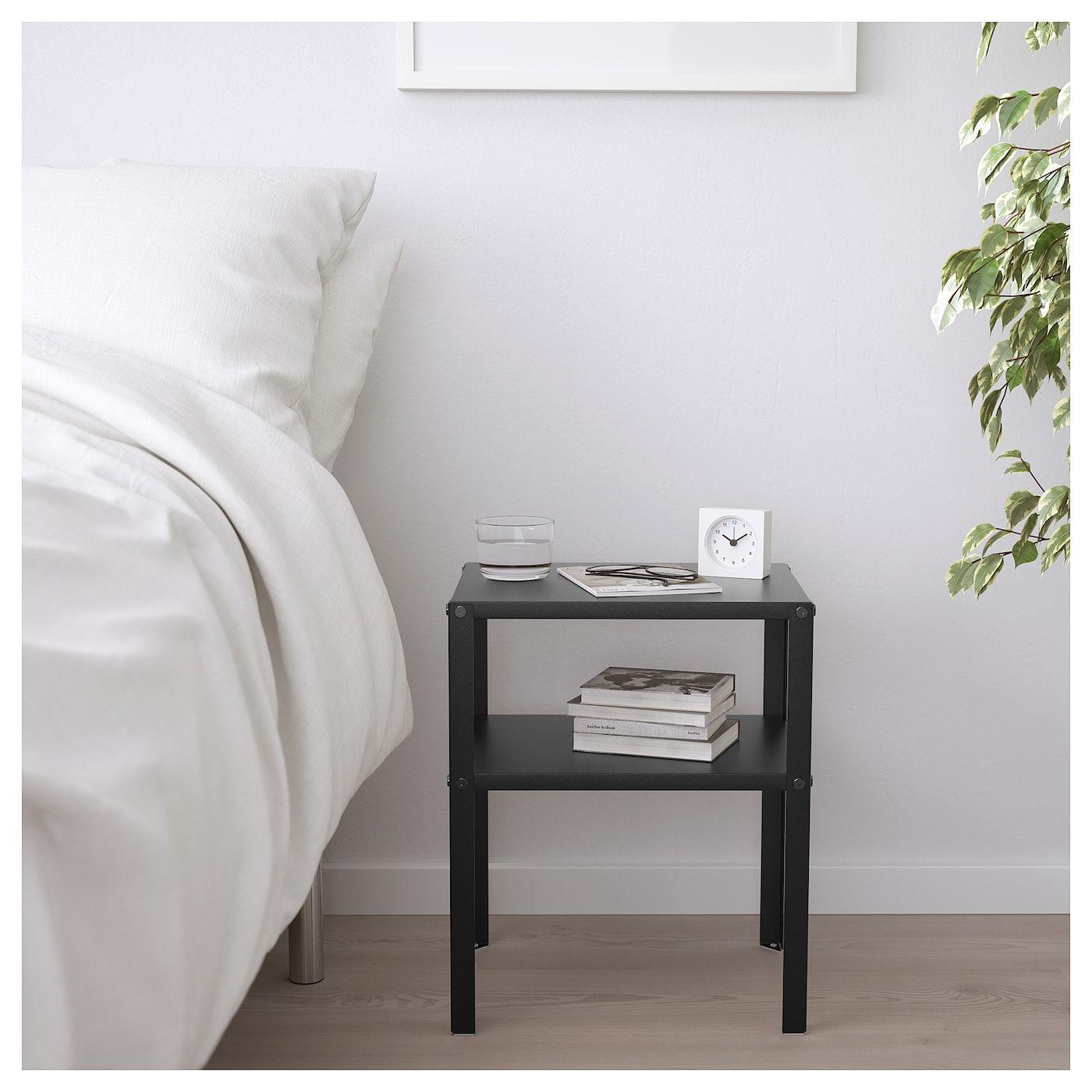 Knarrevik Nightstand Black Bedside Table Ikea Bedroom