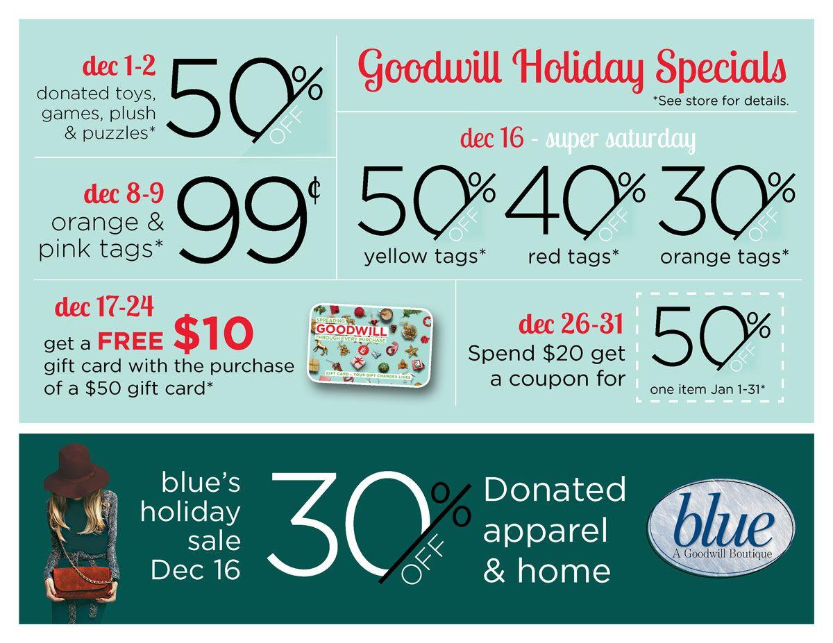 Sales Event Calendar Goodwill Goodwill Salvo Pinterest Event