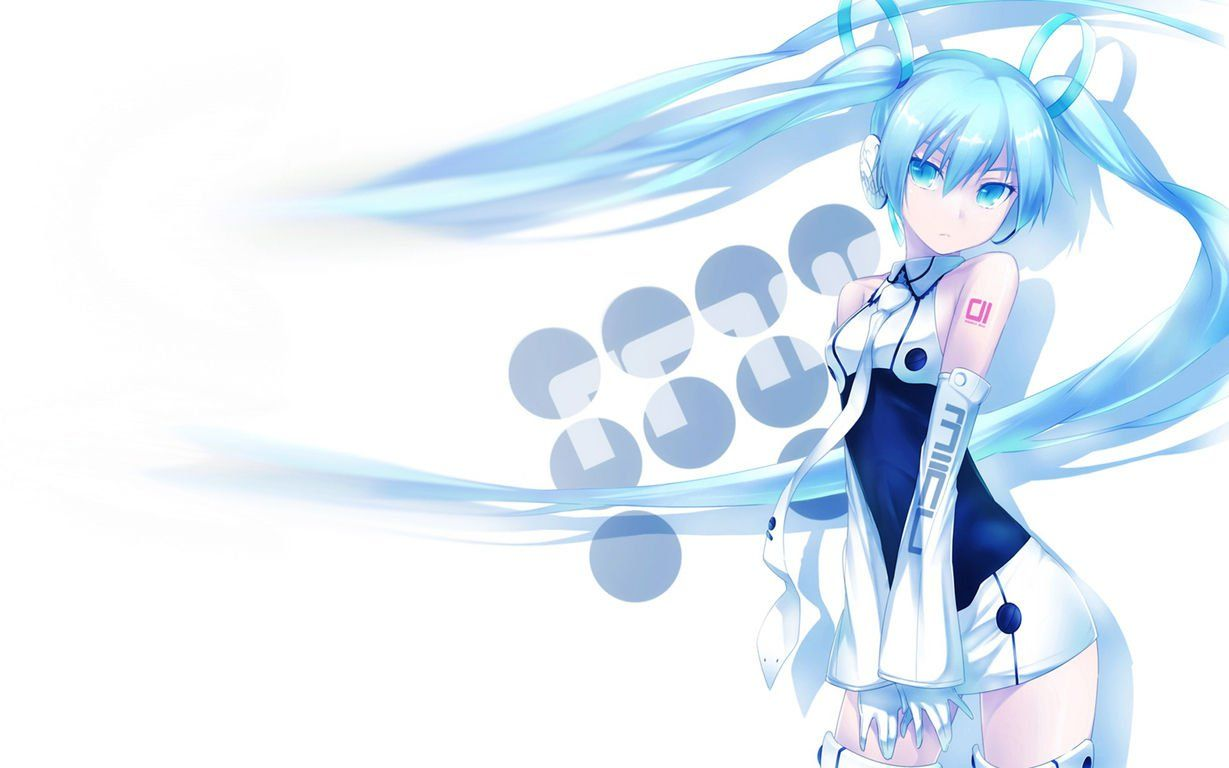 Blue Hair Anime Girl Myspace