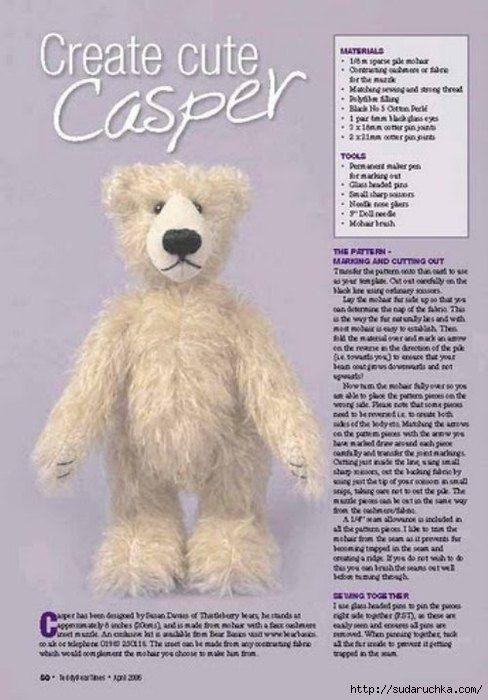 free pattern   Teddy Bears   Pinterest   Bären, Gestalten und ...