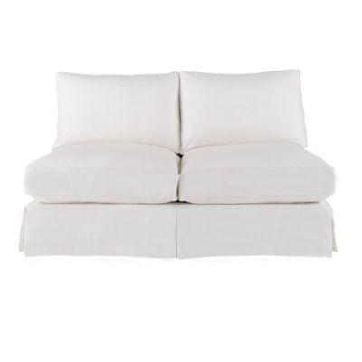Tremendous Baldwin Armless Loveseat Slipcover And Frame Ballard Machost Co Dining Chair Design Ideas Machostcouk