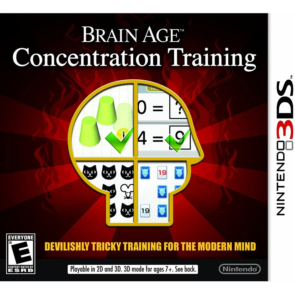 Nintendo Brain Age Concentration Training 3DS Email