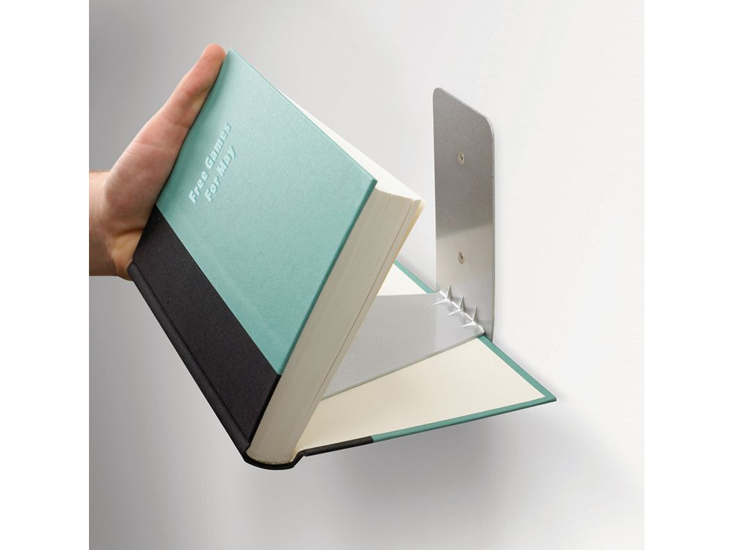 Conceal Shelf  This is a fun way to store your books looks like they are floating on the wall