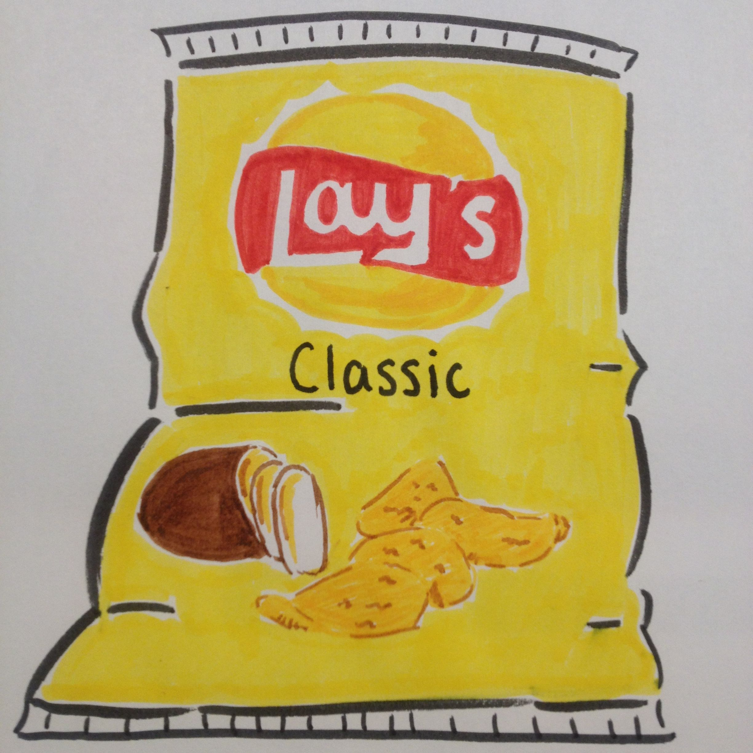 Lay S Classic Chips Drawing By Dhalie Fortin Drawing Bag Sketch Book 500 Drawing Prompts