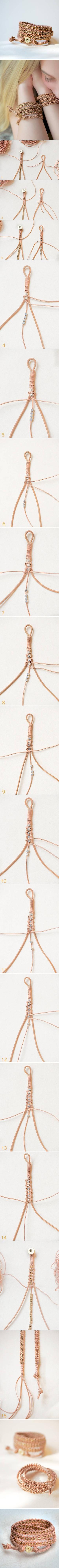 DIY Leather Wrap Bracelet DIY Leather Wrap Bracelet by diyforever