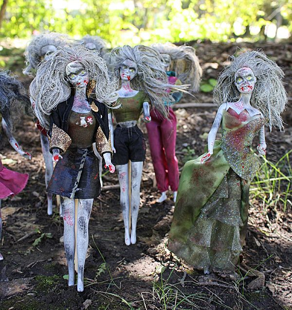 Barbie Zombies Inspired by The Walking Dead Recipe Barbie - zombie halloween decorations
