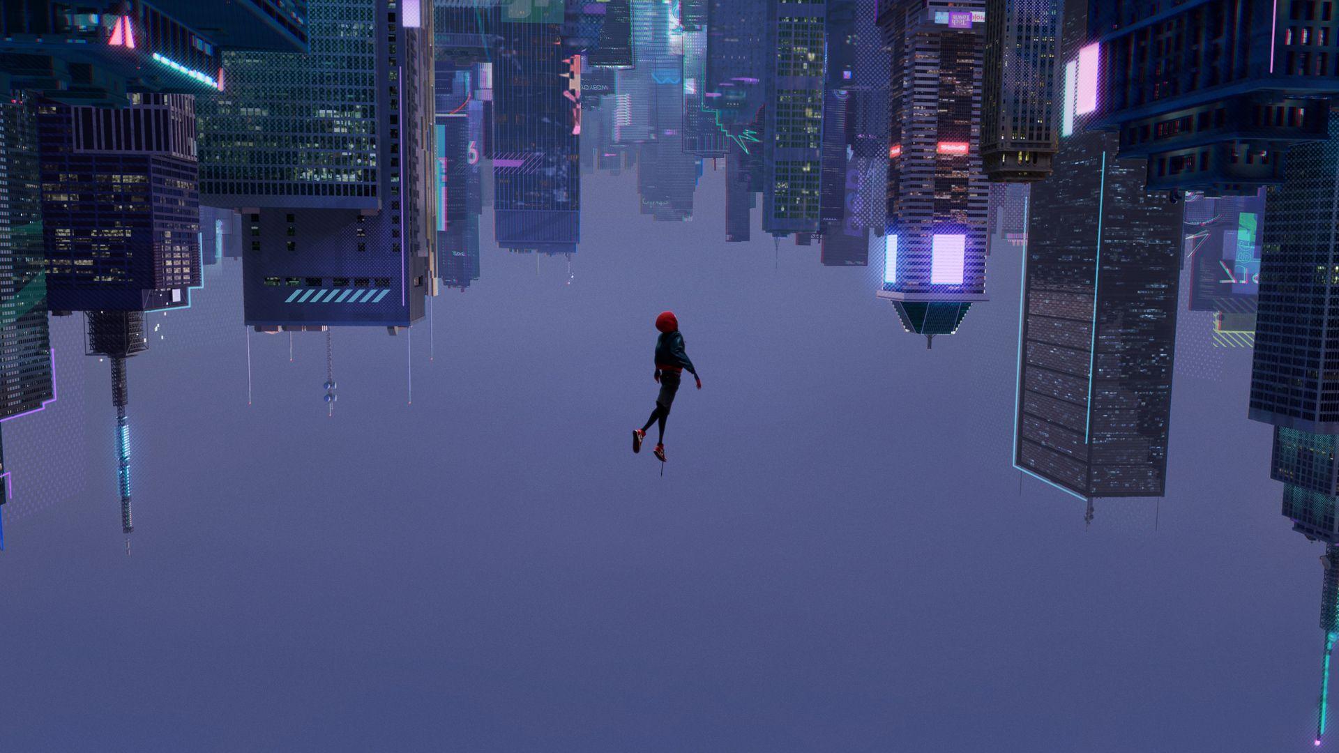 Miles morales spider man into the spider verse - Moving spider desktop ...