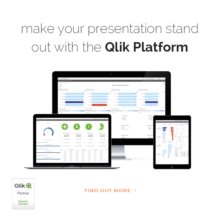 Make your presentation stand out with the Qlik Platform