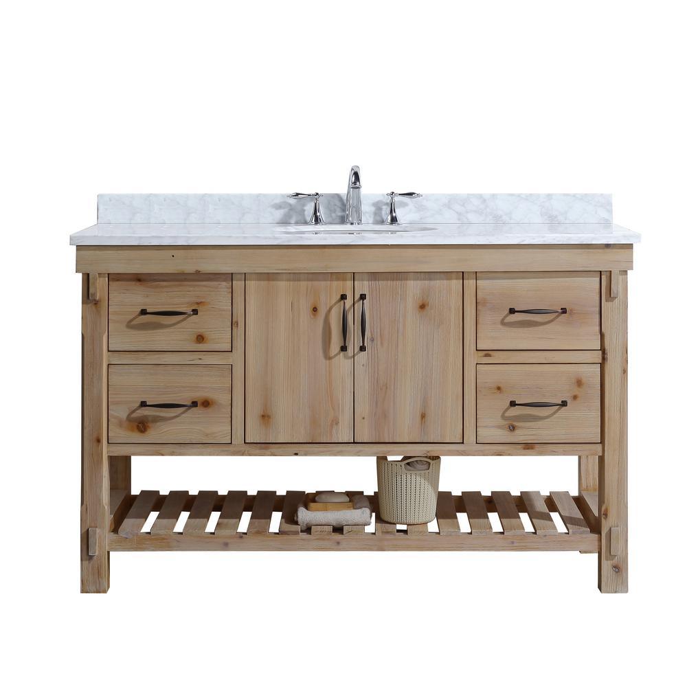 Ari Kitchen And Bath Marina 55 In Single Bath Vanity In Driftwood