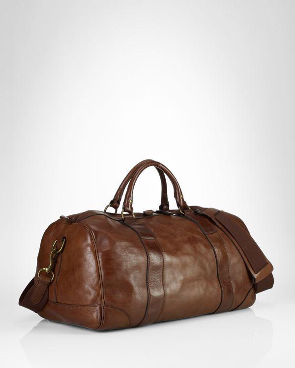 0386639843b1 Polo Ralph Lauren Leather Gym Bag