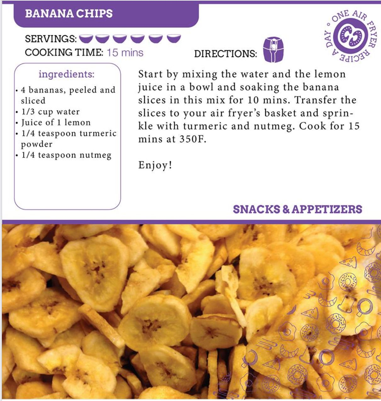 Pin by Suzette Angell on Air fryer recipes Banana chips