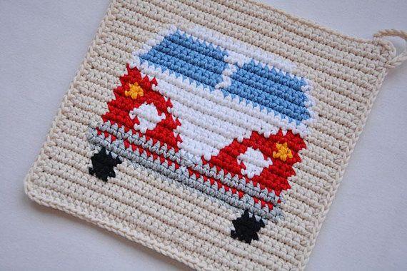 Van Potholder Crochet Pattern For Beginners Bulli Häkeln
