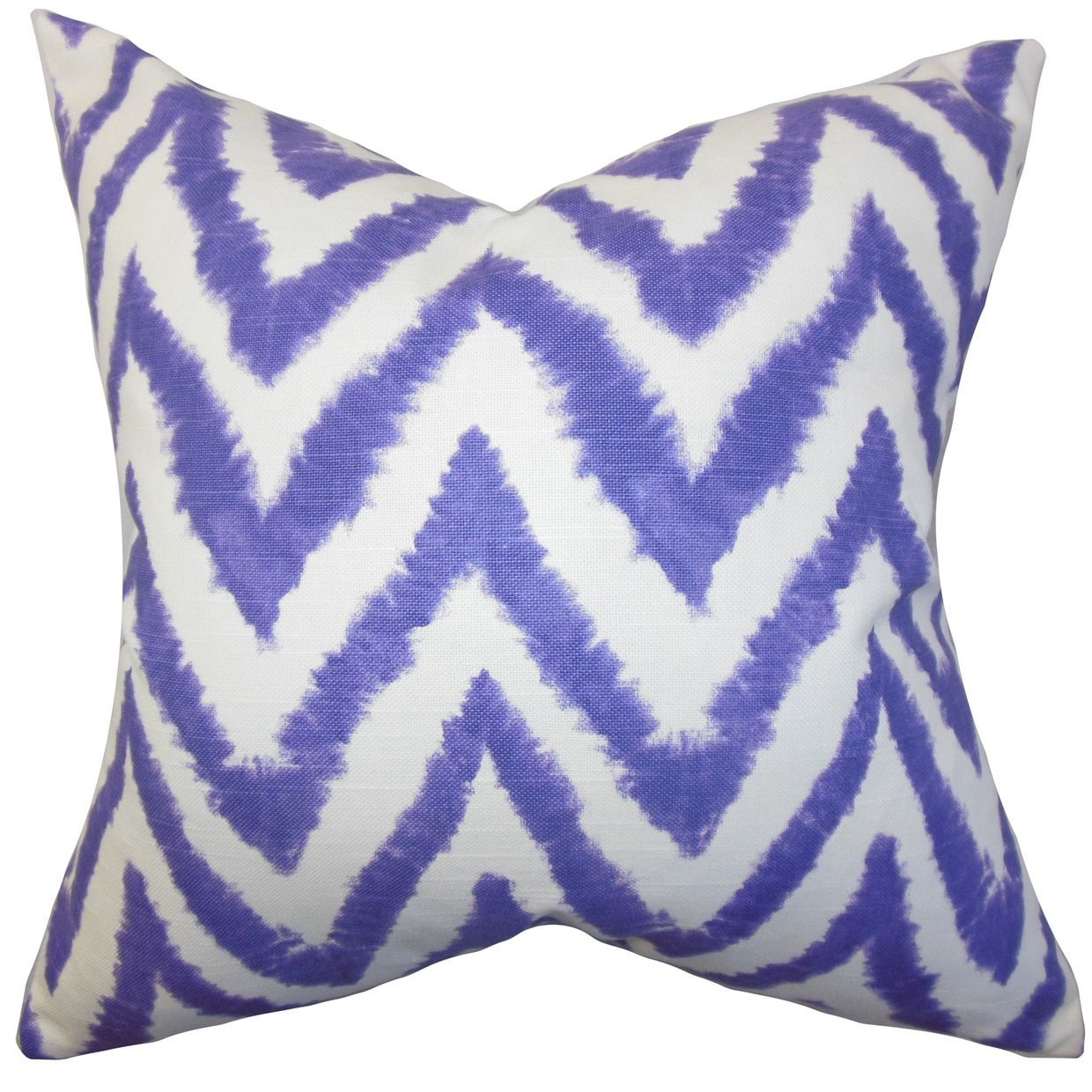 Kingspear Zigzag 24-inch Down Feather Throw Pillow Purple (24\