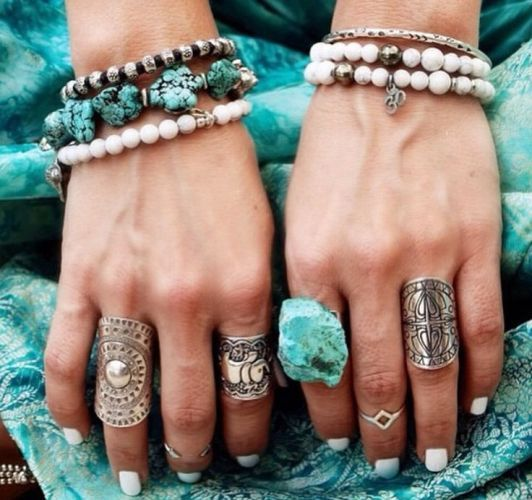 Vintage Silver Jewelle, Bohemian silver rings with turquoise stones http://www.justtrendygirls.com/bohemian-silver-rings-with-turquoise-stones/