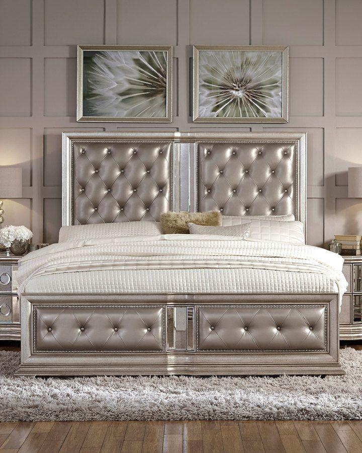 Vivian Tufted California King Bed Silver || luxury home decor ...