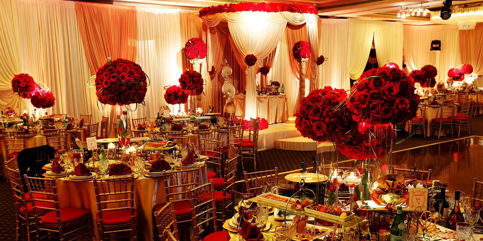 Red And Gold Wedding Decoration Mackenzie Pinterest