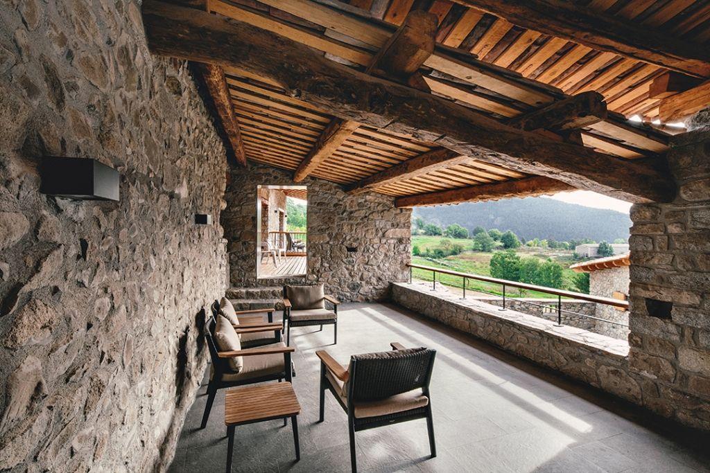 Erstaunlich ã Berdachung Holz Und überdachte terrasse in renoviertem landhaus überdachung terrasse