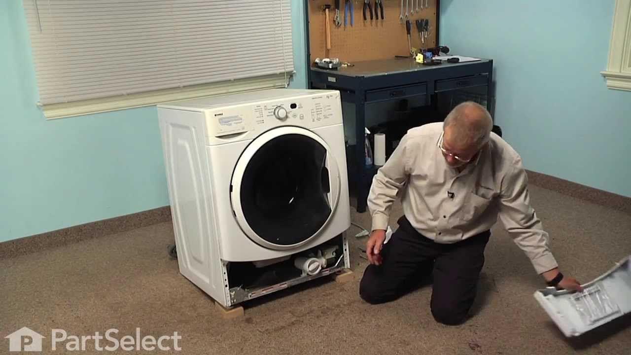 Washing Machine Repair Replacing The Drain Pump Whirlpool Part W101 Washing Machine Repair Drain Pump Washing Machine