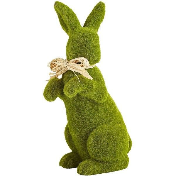 Pier 1 Imports Green Standing Moss Bunny (420 MXN) ❤ liked on Polyvore featuring home, home decor, holiday decorations, pier 1 imports, bunny home decor, green home decor, camouflage home decor and handmade home decor
