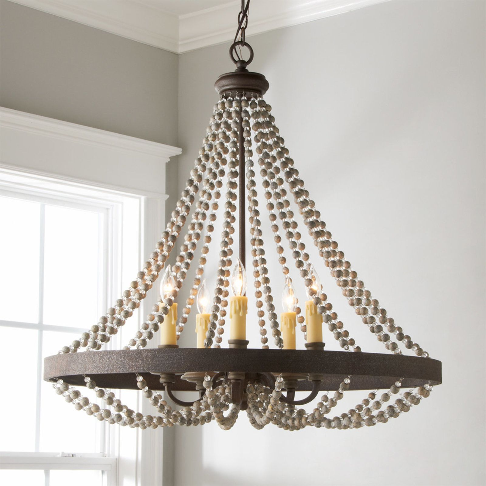 Rustic French Country Beaded Chandelier Rustic French Country