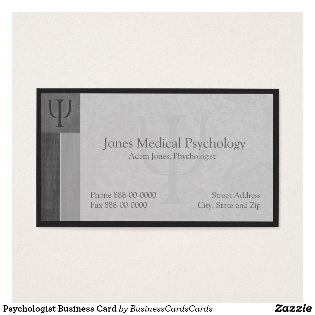 Psychologist Business Card Custom Check out more business card ...