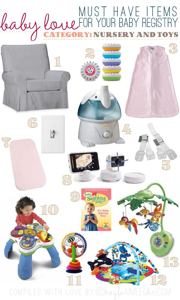 My Picks For Nursery Must Haves Top Baby Registry Love Our