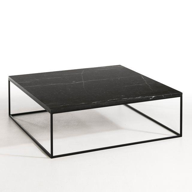 Table Basse Metal Noir Et Marbre Mahaut Table Basse Metal Table Basse Marbre Table Basse