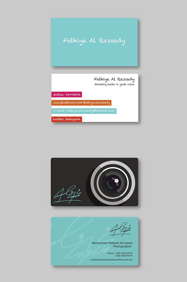 36 Modern Business Cards Examples for Inspiration - 21 | Art, Design ...