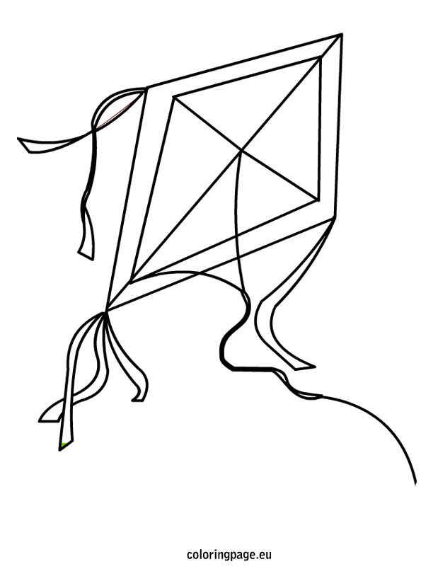 Kite coloring page | Summer | Pinterest