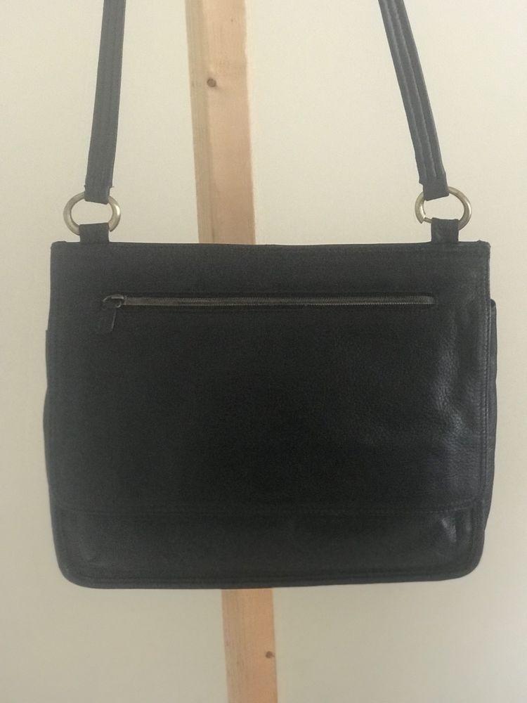 78f2809b23d8 Liz Claiborne Handbag Purse Leather Solid Black Small  LizClaiborne   ShoulderBag