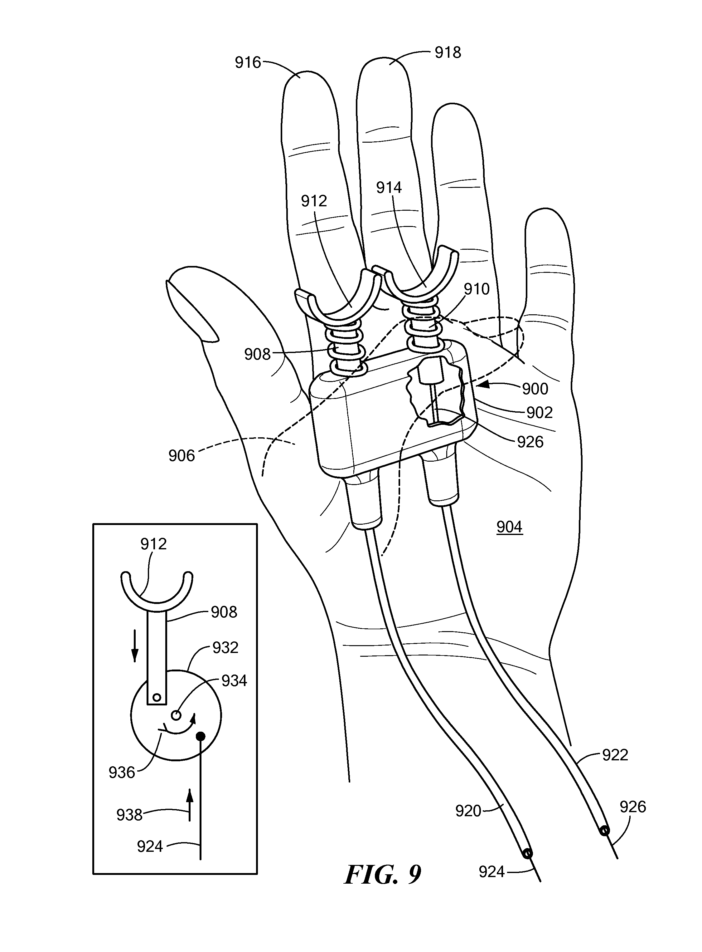 Finger Controls for Moving Rabit ears- Patent Drawing
