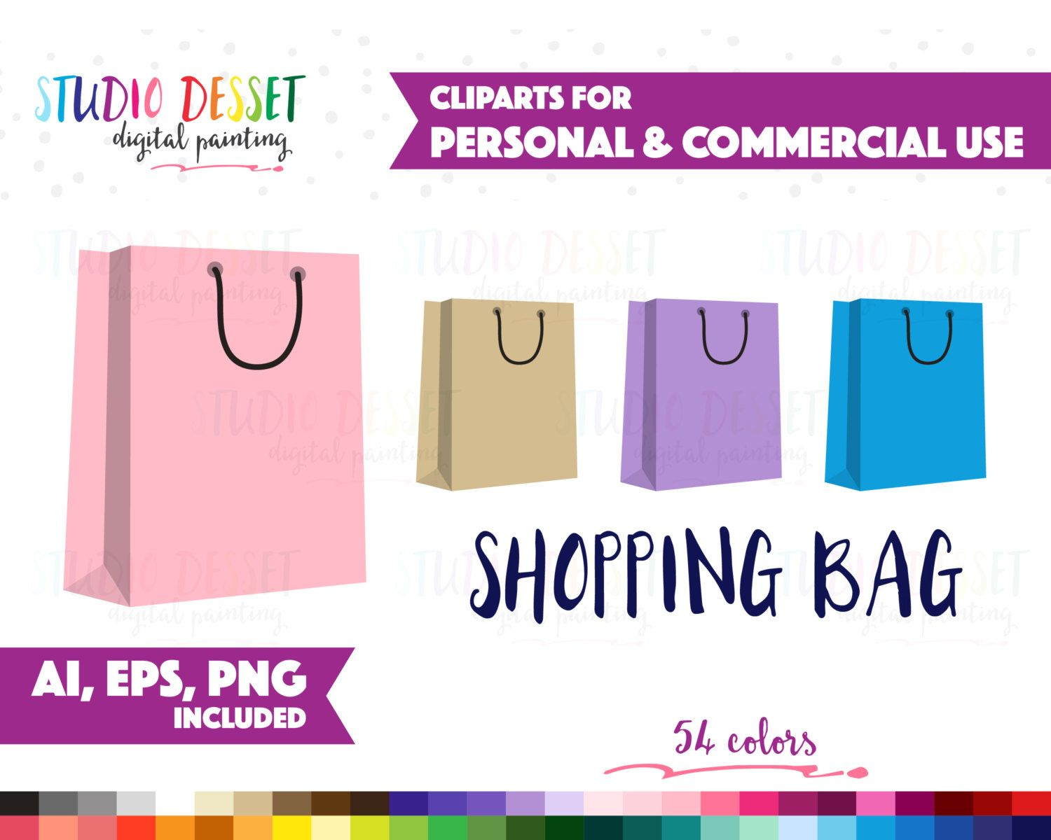 54 Shopping Bag Clipart Vector Clip Art For Planner Stickers Graphics Png Ai Eps Rainbow Tote Paper Bags Clipart Commercial Use Sc007 Clip Art Planner Stickers Printable Party Decorations