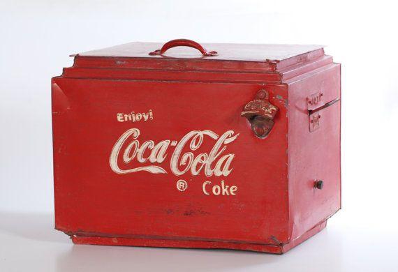 Coca Cola Retro Kühlschrank Schwarz : Vintage coca cola cooler