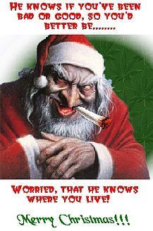 Merry Late Christmas From Creepy Claus Christmas Humor Funny Christmas Songs Santa Claus Quotes