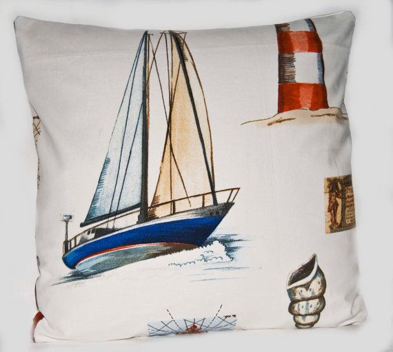 4040 Handmade 40 Inch Pillow Cover Nautical Boat Yachting Inspiration Nautica Pillow Covers