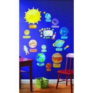 Solar System Wall Play stickers: Amazon.co.uk: Kitchen & Home