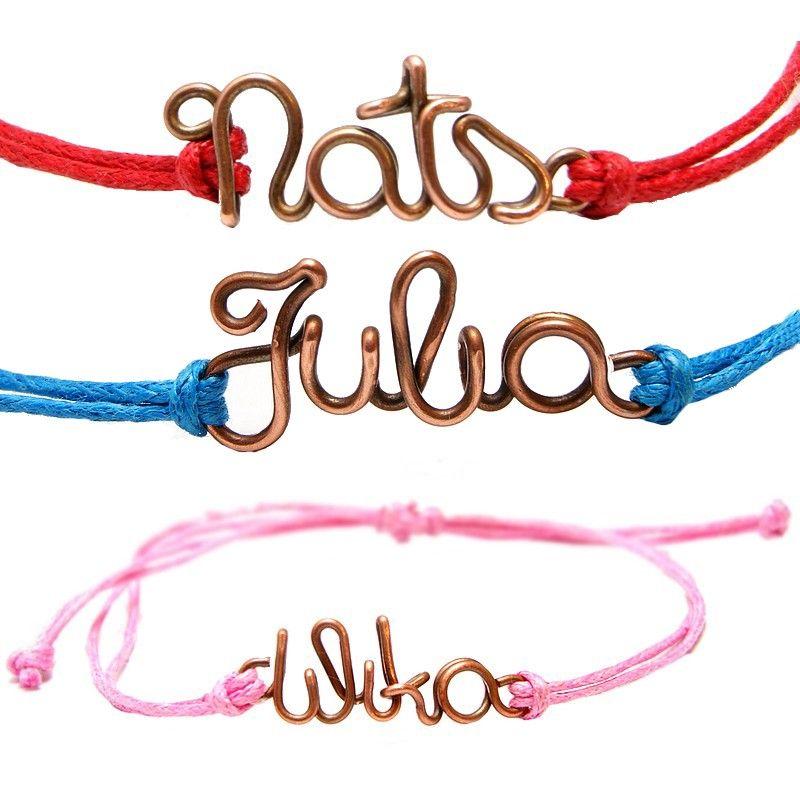 wire name bracelet copper | Bracelets | Pinterest | Bracelets ...