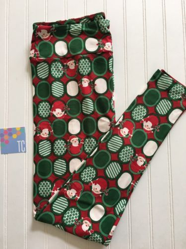 1b82b046fd4d64 LuLaRoe Holiday TC Leggings Red And Green With Santa | Fashion and ...