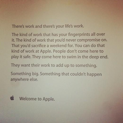 This Inspiring Note Greets AppleS New Hires On Their First Day  Note