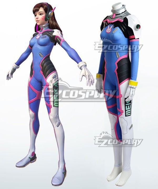 Overwatch OW D.Va DVa Hana Song Cosplay Costume  4124e9d5c8ae
