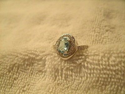 1 CT. Sky Blue Topaz Sterling Silver Stamped .925 Size 8 Handmade