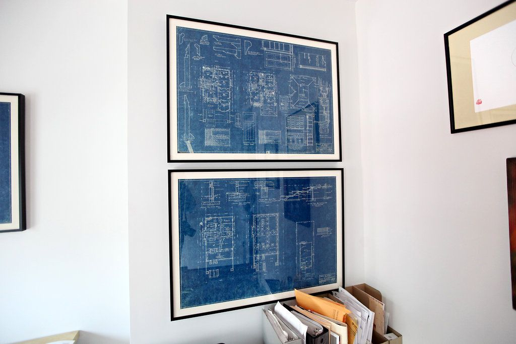 DOOR HALL ARCHITECTURE PLANS DIAGRAM DRAWING ART PRINT Poster House Wall