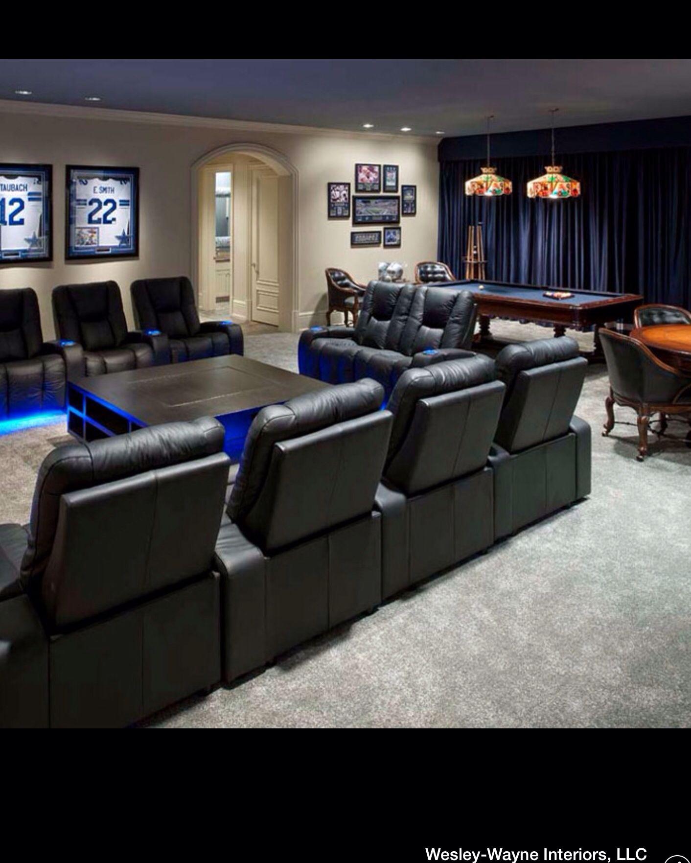 Your Very Own Dallas Cowboys Room Media Room Colors Cowboy Room Man Cave Home Bar