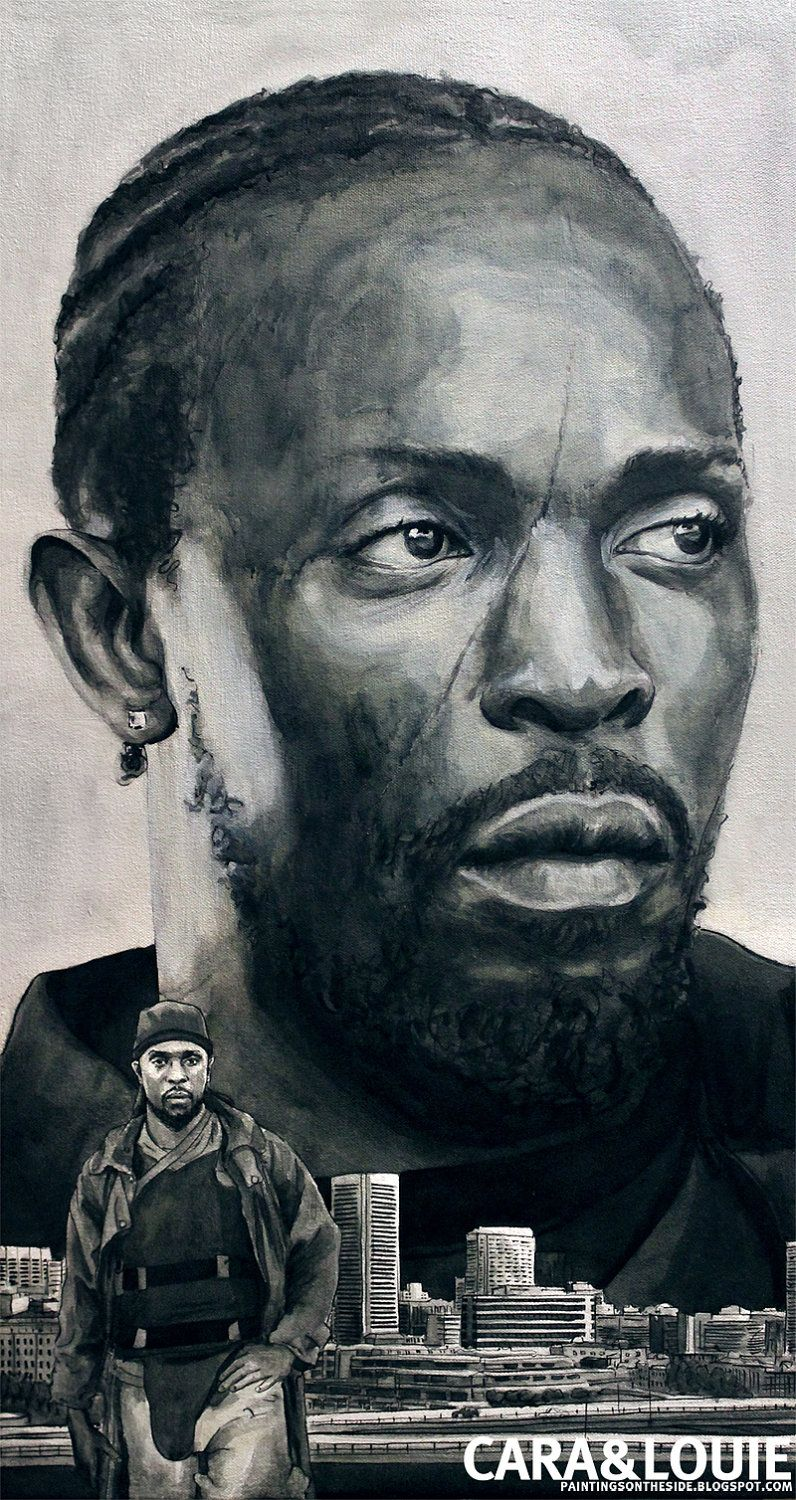 Omar Little from The Wire - an original painting on canvas ...