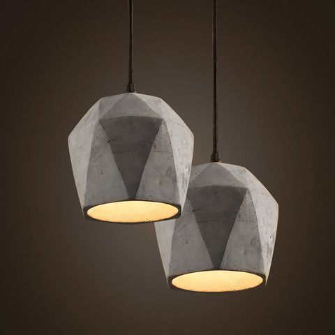 Concrete Odense Gem Pendant Light in 2018 light Lighting