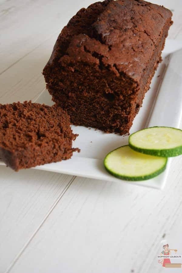 Cake Courgette-Chocolat - recette sans lactose et sans ...