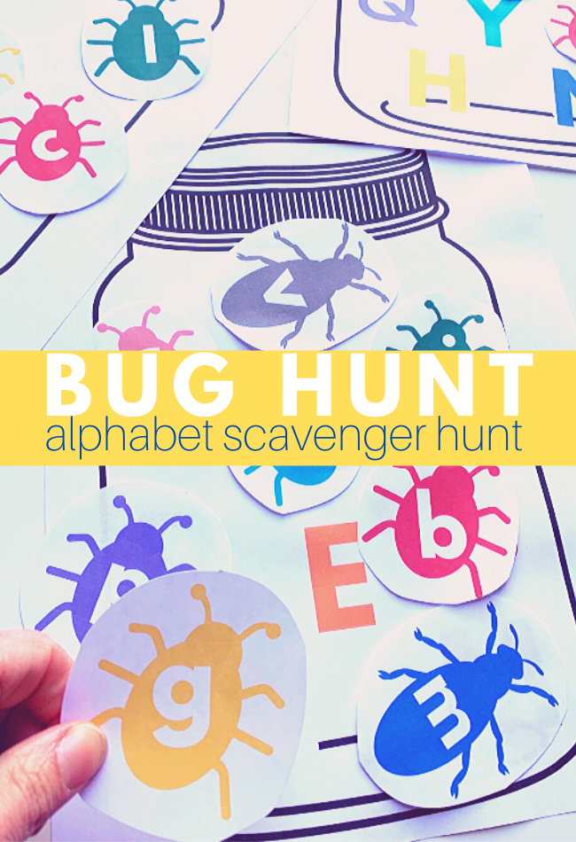 Photo of Bug Alphabet Scavenger Hunt – Free Printable Activity – No Time For Flash Cards
