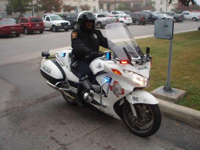 UT San Antonio Police motorcycle